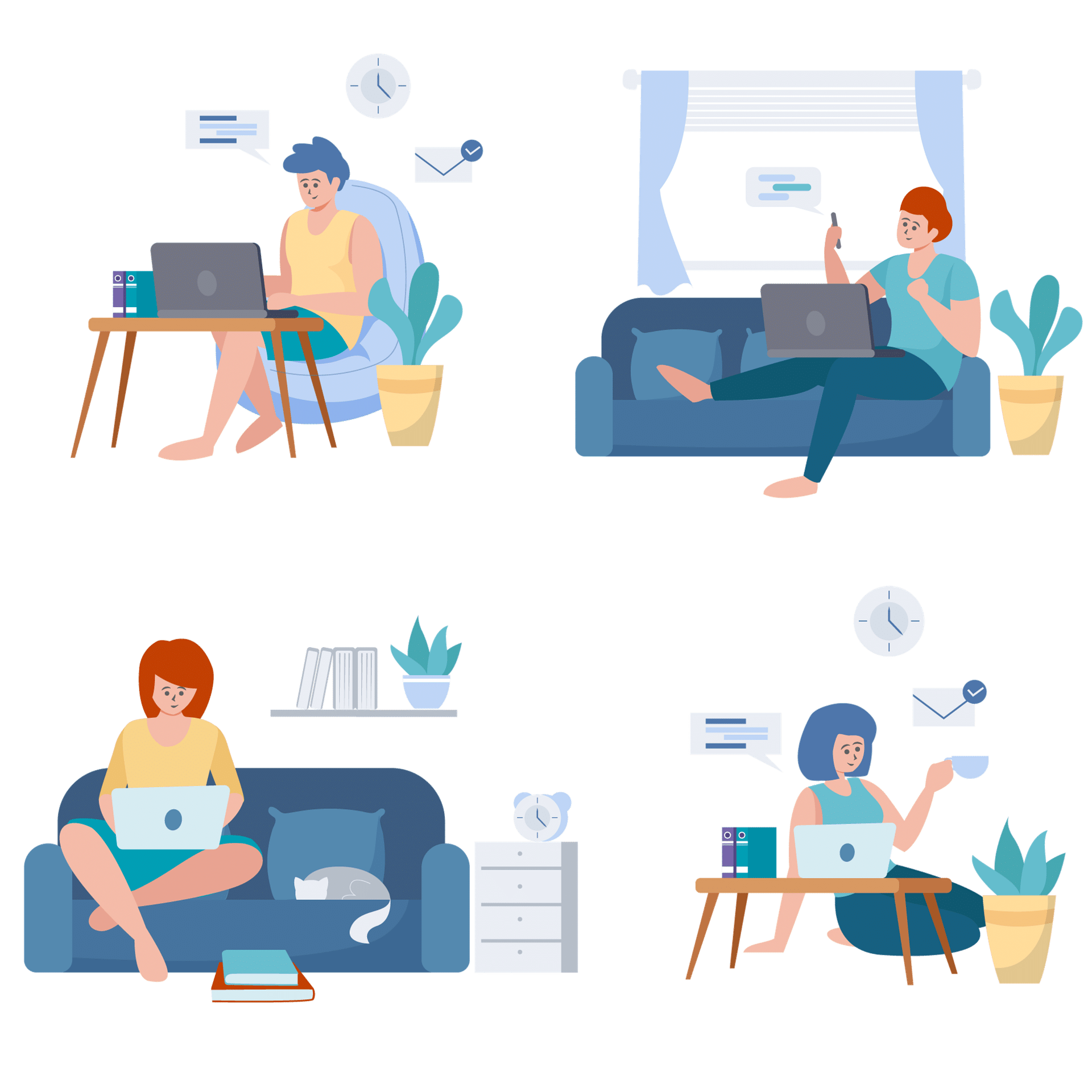 look after wellbeing of remote employees